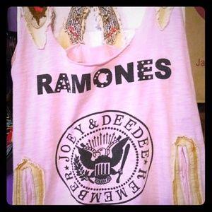 Womens Vintage RAMONES Pink Tank Top
